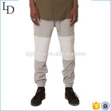 Pantalones de chándal de terry en los hombres pantalones jogger en los pantalones de chándal de dos colores