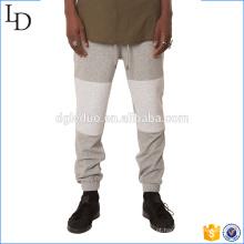 Francês terry calças de suor homens corredores calças calças de duas cores