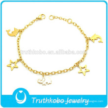 TKB-B0201 Cute Animal Pendant Fashion Guangzhou Jewelry Gold Bracelet