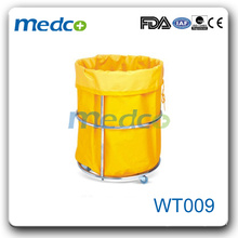 WT009 Stainless steel medical waste trolley dressing trolley