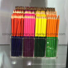 Crayons de couleur en bois naturel avec doubles extrémités