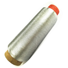 Factory Direct MS type bright silvery metallic yarn for weaving and embroidery