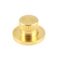 Round Cap Plug Brass Big Head Step Knurl