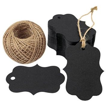 Rectangle Black Blank Gift Paper Security Black Hang Tag