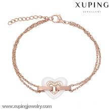 74098-jewellery thailand jewelry manufacturer gold plated heart girls fancy bracelets