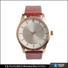 Relojes de pulsera de lujo para los hombres de la capa superior de vaca correa de cuero reloj de oro rosa