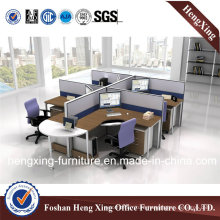 Dark Color L Shape Workstation Office Partition (HX-PT14034)