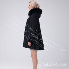 Australien Merino Shearling Hooded Jcket For Lady