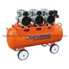 Moteur de pompe à compresseur dentaire silencieux sans huile Oilless (Hw-750/80)