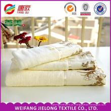 Toalha de renda China Fornecedor toalha de renda de algodão mais popular jacquard dobby impresso toalha de renda feita em Shandong, China