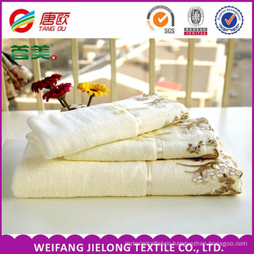 lace towel China Supplier cotton lace towel most popular jacquard dobby printed lace towel made in Shandong,China