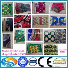 100% coton couleur sable ajouté tissu de copie de cire africaine