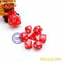 Mini Size Polyhedral 7-Die Set D4 D6 D8 D10 D% D12 D20 for RPG Dungeons and Dragons Game Dice
