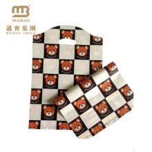 Preço de fábrica design encantador venda quente personalizado saco de plástico de compras com ursos de pelúcia padrão