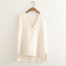 Custom New Style Sweater Women V-neck Knitted Vest