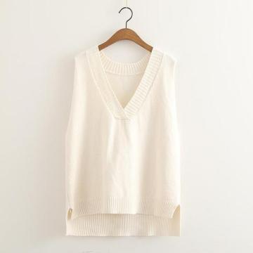 Custom New Style Sweater Damen Strickweste mit V-Ausschnitt