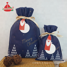 Sacos de compras feitos sob encomenda do logotipo do saco do presente do Natal da marinha