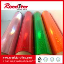 Rolo de pvc prismático colorido para braçadeira