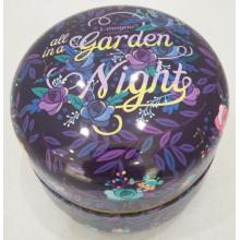 Garden Light Round Coffee Tin Box