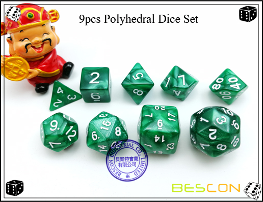 9pcs Polyhedral Dice Set-3
