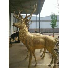Alibaba China Bronze Skulpturen Garten Hirsch Statuen zu verkaufen