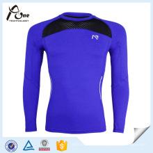 Jersey de compresión de ropa de compresión de manga larga Strech