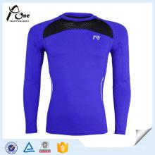 Camisa de compressão de mangas compridas de compressão de manga comprida Strech