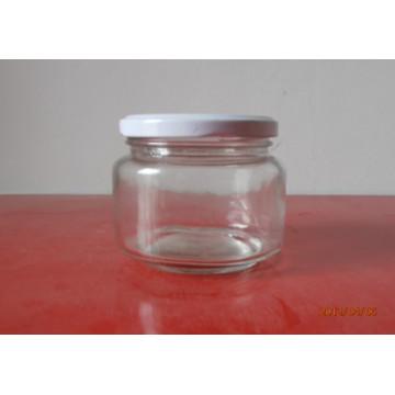 230ml Round Glass Jars with Tin Lids