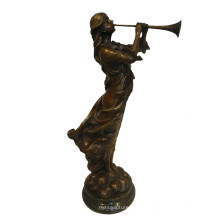 Музыка-Деко Латунь Статуя Исполнителем Ручной Работы Бронзовой Скульптуры Т-996