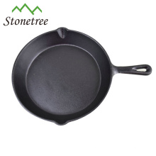 Kitchenware cast iron skillet fry pan with pre-seasoned coating