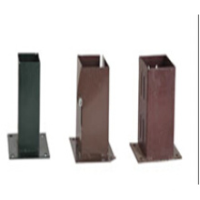 HDG Pile Box, Stake Box, Power Coated Stake, Pole Plate