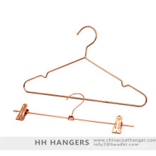 Métal de couleur cuivre Fashion clothes Hanger Rose Gold support