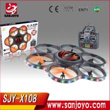 XINLIN X108 2.4G 4CH tamaño grande Quadcopter con luz LED y cámara de 0.3MP SJY-X108LV