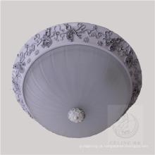 Novo design lâmpada de teto de resina com sombra de vidro (SL92679-3)