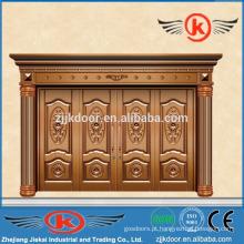 JK-C9015 porta latão de bronze de luxo porta wally design de porta esculpida