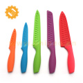 Excellent houseware 5 pcs non-stick coating kitchenknife cooking knife set with plastic sheath