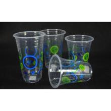 Tasse à boire froide en plastique jetable, 16 oz