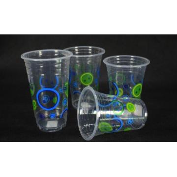 Copo bebendo plástico frio descartável, 16 onças