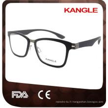 2017 Hommes Ultralight TR90 avec lunettes optiques en métal et lunettes