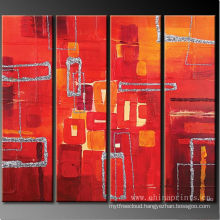 Xiamen Hot Sale 4 Panels Abstract Oil Painting