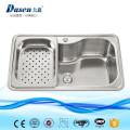 PP de aço inoxidável do equipamento industrial novo da cozinha que dobra o dissipador profundo para a lavanderia