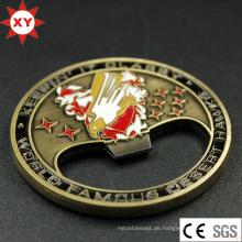 Fabrik verkaufen billige Herausforderung Münze mit Opener-Funktion