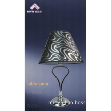 CE&RoHS approval Fabric shade table lamp,simple chrome table light