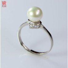 Silver Pearl Ring  (ER1608)