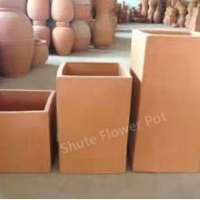 Баки плантатора глиняной посуды квадратной формы прочные для цветка