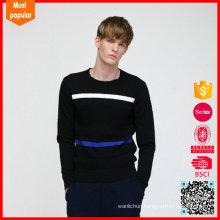 Men's crew neck custom knit 100% wool sweater