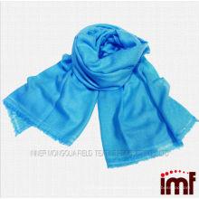 Color sólido turquesa tejida tela bufandas cachemir de cachemira