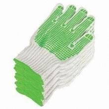 Safety Working Knitted Cotton Gloves with PVC Dots