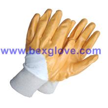 Yellow Nitrile Working Glove