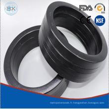 Black Buna / NBR Coton / Tissu Tissu V Forme Oil Seal